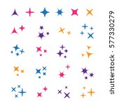 sparkle lights stars set.... | Shutterstock .eps vector #577330279