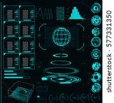 radar screen. vector...   Shutterstock .eps vector #577331350