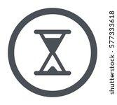 hourglass icon  flat design...