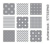 set of seamless patterns  lines ... | Shutterstock .eps vector #577333960