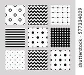 set of seamless patterns  lines ... | Shutterstock .eps vector #577334029
