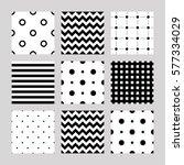set of seamless patterns  lines ... | Shutterstock .eps vector #577334029