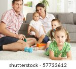 little girl  3 4 years  lying... | Shutterstock . vector #57733612