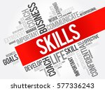 skills word cloud collage ... | Shutterstock .eps vector #577336243