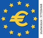 eu symbol. emblem. flat icon.... | Shutterstock .eps vector #577336468