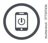 power button  flat design style