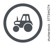 tractor icon  flat design style   Shutterstock .eps vector #577344274