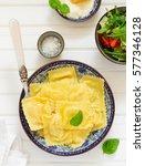 ravioli stuffed with ricotta... | Shutterstock . vector #577346128