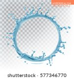 water splash with transparency. ... | Shutterstock .eps vector #577346770