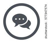 speech bubbles icon  flat...   Shutterstock .eps vector #577347574