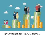 people generations with... | Shutterstock .eps vector #577350913