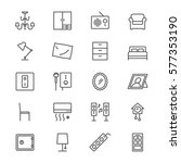home furniture thin icons | Shutterstock .eps vector #577353190