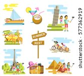 summer vacation and world... | Shutterstock .eps vector #577362919