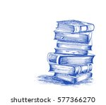 stack of books isolated on... | Shutterstock .eps vector #577366270