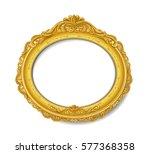 oval golden frame | Shutterstock .eps vector #577368358