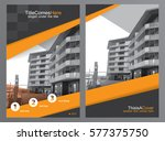 business brochure template or... | Shutterstock .eps vector #577375750