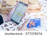 bangkok  thailand   february 12 ... | Shutterstock . vector #577378576