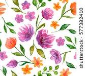 watercolor seamless pattern of... | Shutterstock . vector #577382410