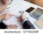 teamwork process. young... | Shutterstock . vector #577402489