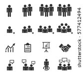 business people team icons .... | Shutterstock .eps vector #577412494
