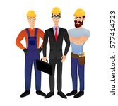 builders on a white background. ... | Shutterstock .eps vector #577414723
