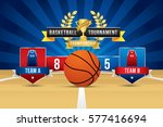 vector of basketball with team... | Shutterstock .eps vector #577416694