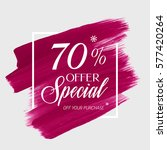 sale special offer 70  off sign ... | Shutterstock .eps vector #577420264