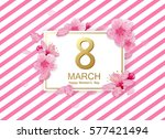 8 march modern background... | Shutterstock .eps vector #577421494