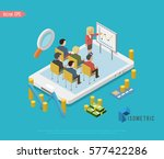 isometric teamwork and... | Shutterstock .eps vector #577422286