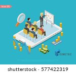 isometric teamwork and... | Shutterstock .eps vector #577422319