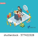 set of isometric business... | Shutterstock .eps vector #577422328