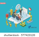 businessman group isolated... | Shutterstock .eps vector #577423120