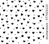 seamless patterns with black... | Shutterstock .eps vector #577423123