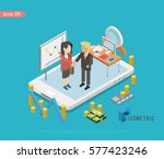 isometric internet business.... | Shutterstock .eps vector #577423246