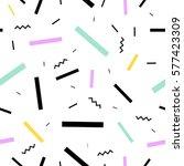 memphis design 80's geometric... | Shutterstock .eps vector #577423309
