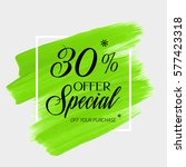 sale special offer 30  off sign ... | Shutterstock .eps vector #577423318