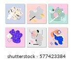 set of unique artistic design... | Shutterstock .eps vector #577423384
