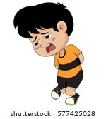 in a morning  kid want to go a...   Shutterstock .eps vector #577425028