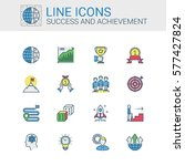 simple icons set of success and ... | Shutterstock .eps vector #577427824