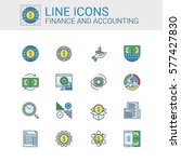 simple icons set of finance and ... | Shutterstock .eps vector #577427830