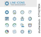 simple icons set of time... | Shutterstock .eps vector #577427854