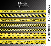 yellow with black police line.... | Shutterstock .eps vector #577428028