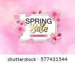 spring sale background with... | Shutterstock .eps vector #577431544
