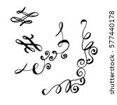 collection of hand drawn ink... | Shutterstock .eps vector #577440178