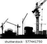 illustration with house...   Shutterstock .eps vector #577441750