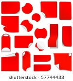 realistic vector red stickers... | Shutterstock .eps vector #57744433