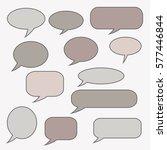 speech bubble. dream cloud.... | Shutterstock .eps vector #577446844