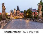 Charles Bridge In Prague At...