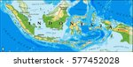 indonesia physical vector map... | Shutterstock .eps vector #577452028