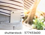 smart phone in back pocket with ... | Shutterstock . vector #577453600